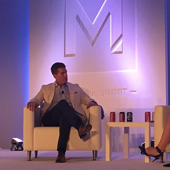 Chris Wayman at the Merkle Executive Summit with Ellen Duncan