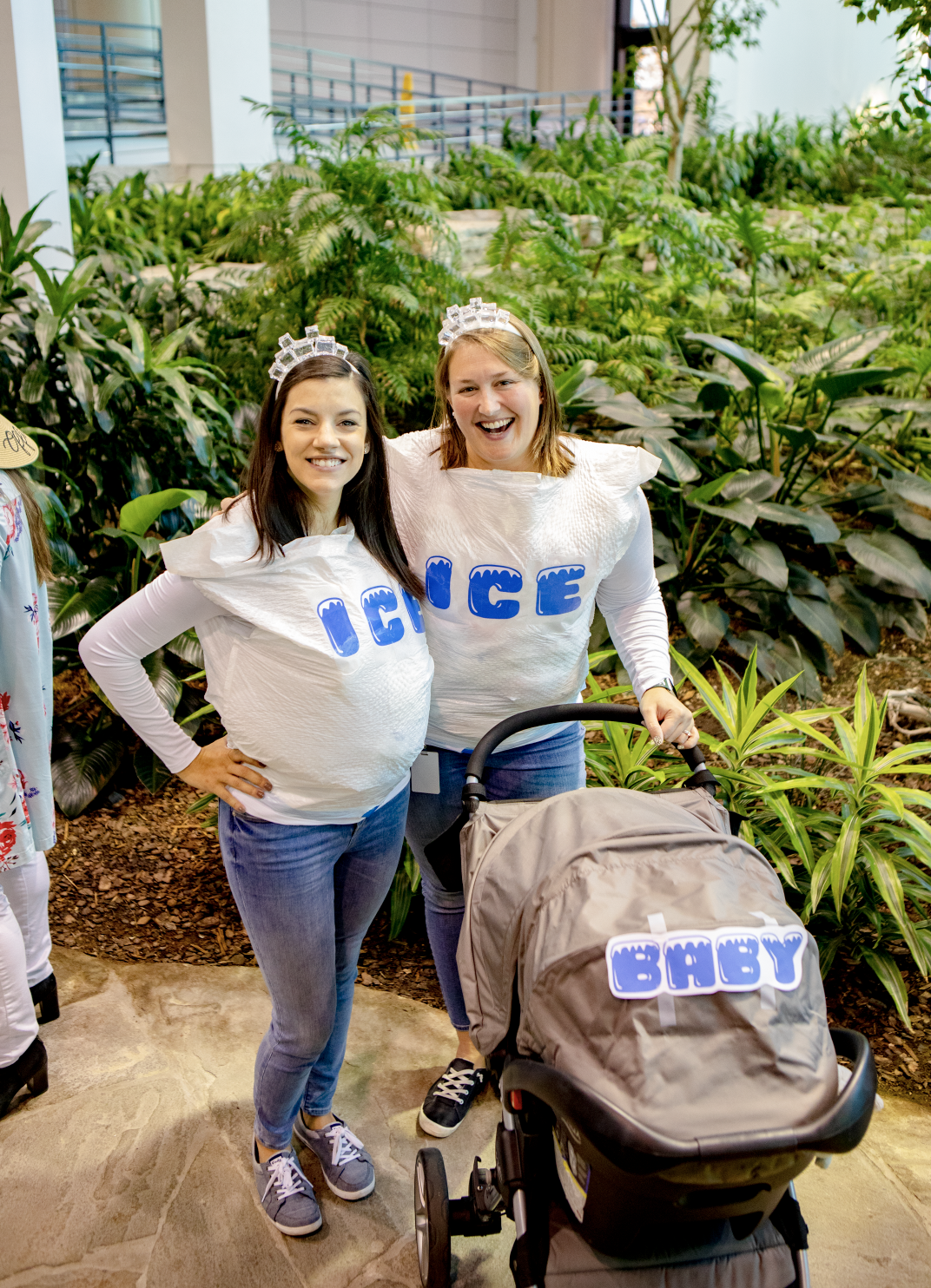 2nd Place – Ice, Ice Baby - Meagan K + Ellen L and brand-new baby Thomas