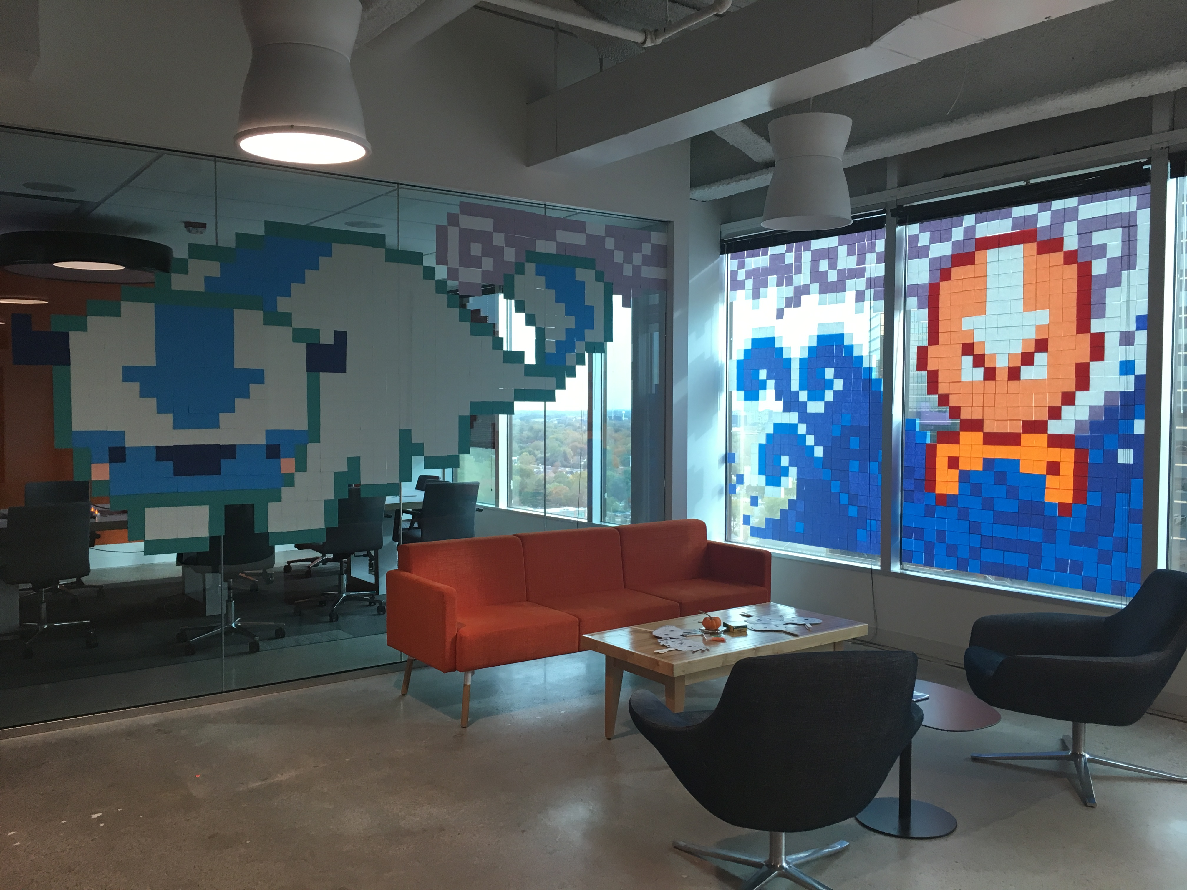Halloween Decorating with Post It Notes